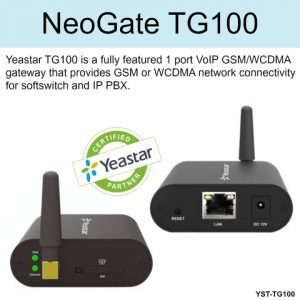 Yeastar Neogate TG100 GSM Gateway installation dubai